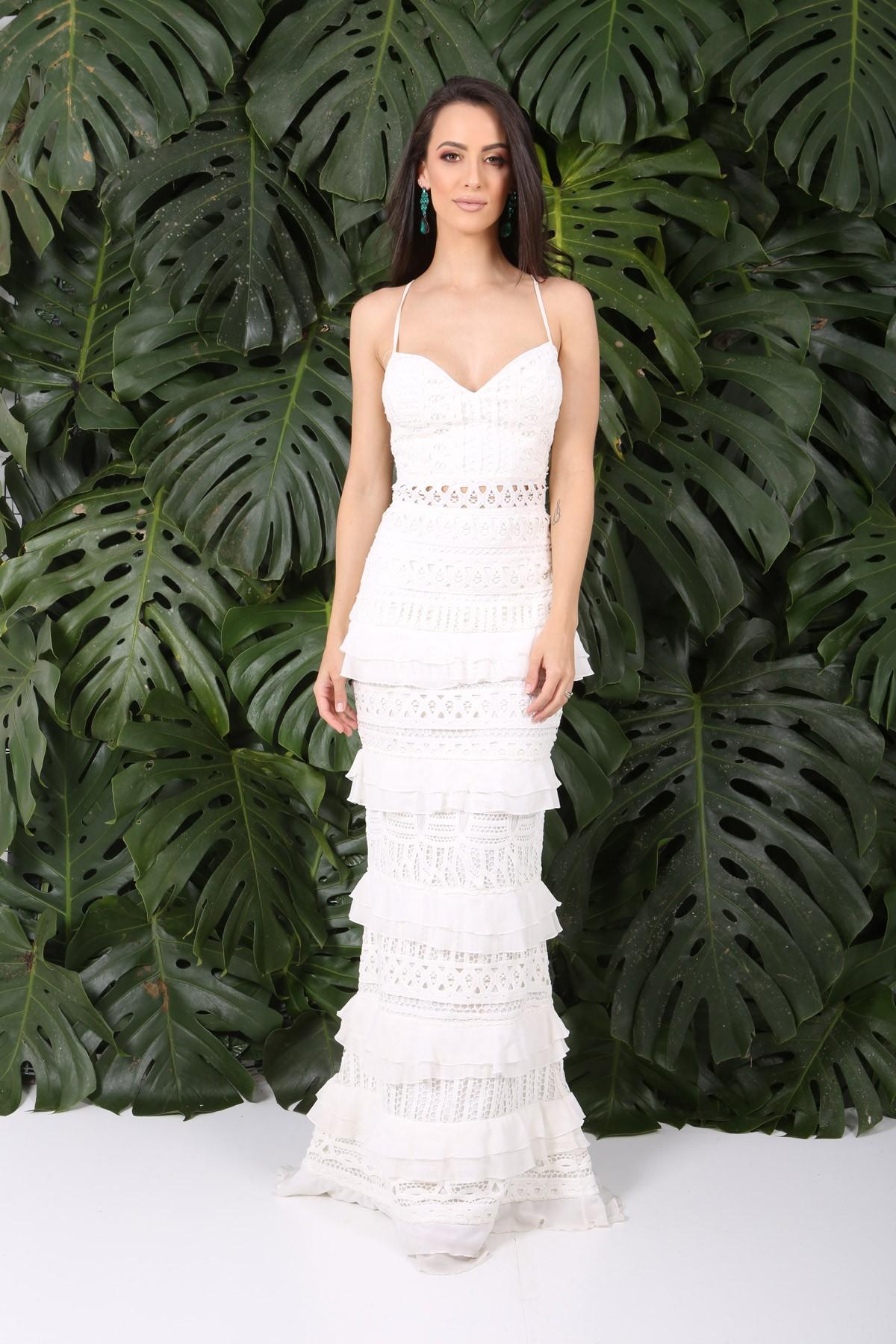 Aluguel Fabulous Agilita - Branco Babados