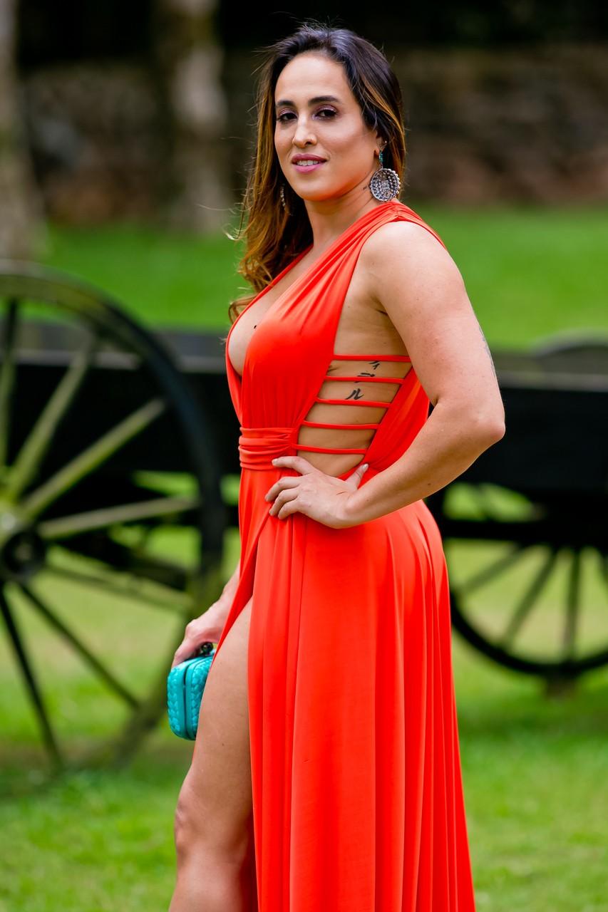 Vestido Safira - Coral