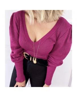Blusa V Lurex Pink