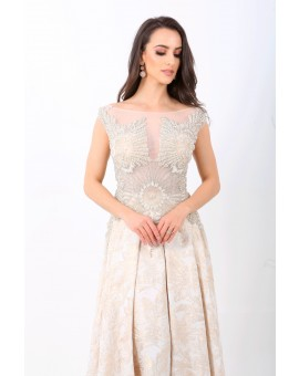 Vestido Brilho Marfim