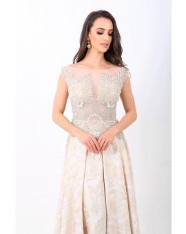 Aluguel Vestido Brilho Marfim