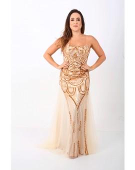 Aluguel Vestido Angel - Dourado