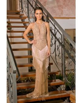 Vestido Glamour Franjas - Rosê
