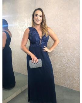 Aluguel Vestido Azul Marinho