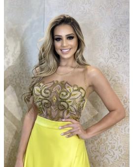 Vestido FrutaCor - Amarelo Princesa