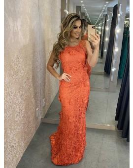 Vestido Tutta Renda Coral