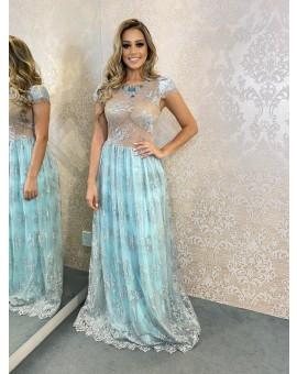 Vestido Princesa Renda Acqua - Raquel de  Queiroz