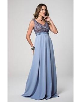 Aluguel - Vestido Azul Serenity Princesa