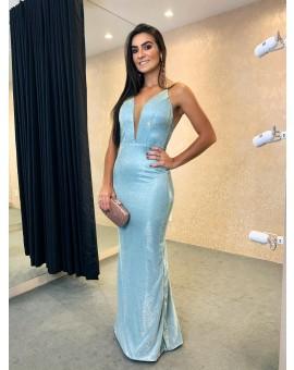 Vestido Amiga do Rei Tiffany Glitter Sereia