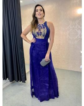 Vestido Princesa Lia Rabello Azul Royal