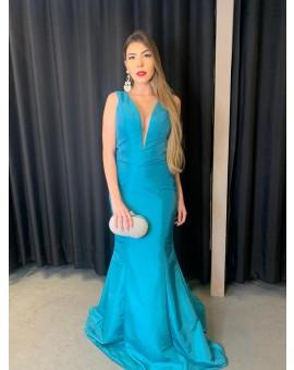Vestido Sereia Estruturado - Max Verde