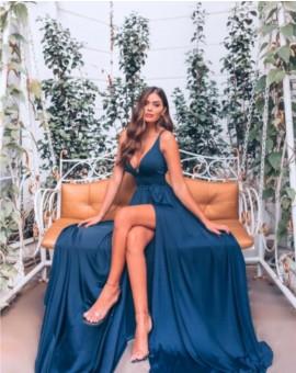 Vestido Amanda - Azul Petróleo