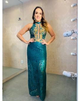 Vestido - Patricia Bonaldi Verde Renda