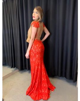 Vestido - Vermelho Renda Dolce