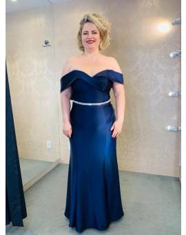 Vestido Tomara - Que - Caia Azul Marinho Estruturado