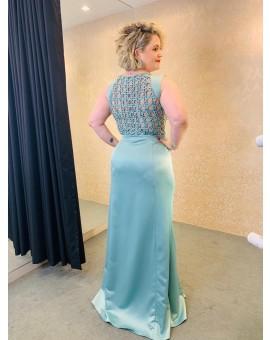 Vestido Azul Claro Trama - Arte Sacra