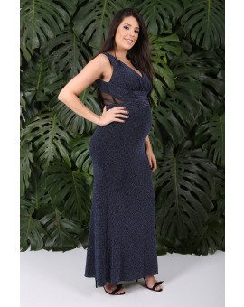 Aluguel Vestido Lurex - Marinho