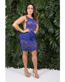 Aluguel - Renda Guipir Azul Royal