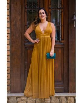 Vestido Esmeralda - Dourado Lurex