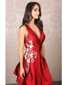 Patrícia Bonaldi - Vermelho Aplicação Floral