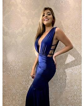 Aluguel Vestido Sofia - Azul Marinho
