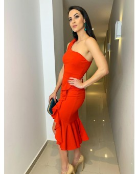 Vestido Zen - Midi Vermelho