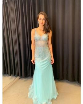 Aluguel Amelia Couture - Azul Tiffany