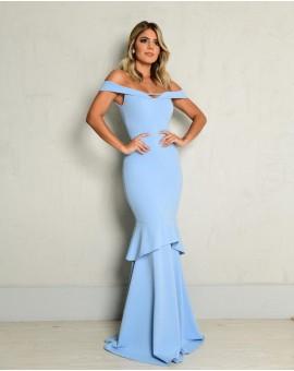 Aluguel Vestido Nova York Azul Serenity