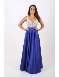Aluguel Vestido Azul Royal Princesa