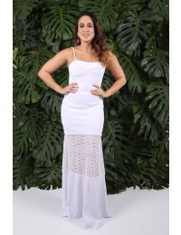 Aluguel - Vestido Laise Branco